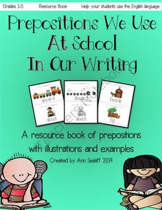 Prepositions We Use: A Resource Book! Enter for your chance to win 1 of 3.  Prepositions We Use: A resource book for teachers and students (51 pages) from The Caffeinated Classroom on TeachersNotebook.com (Ends on on 2-10-2014)  This product can be printed and made into a book or kept as flash cards. If your students struggle with prepositions, here is a way to help them remember and understand.