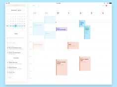 Unearthing more old unused mockups. This time — a calendar UI for the iPad, for… Dashboard Interface, Web Dashboard, Ui Web, Dashboard Design, User Interface Design, Calendar Pad, Calendar Time, Calendar Design, Wedding Ideas