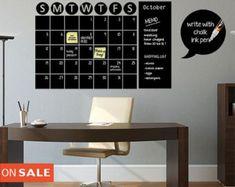 chalkboard calendar – Etsy