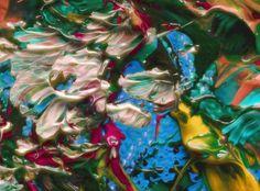 """Empryean Garden, 48"""" x 36"""", Merged Media, Hand Textured Archival Pigment Print on Canvas, $550.  www.gordonmaronde.com"""