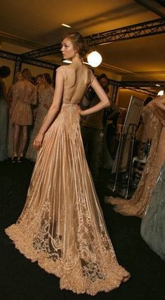 Somptuous nude gown