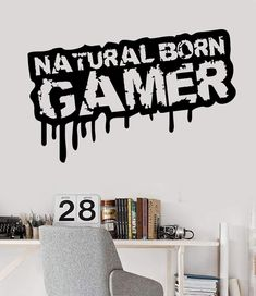 Vinyl Wall Decal Gamer Quote Video Game Teen Room Stickers Unique Gift in X 45 in / Black – Game Room İdeas 2020 Wall Stickers Girl Bedroom, Room Stickers, Boys Bedroom Decor, Teen Room Decor, Bedroom Ideas, Bedroom Makeovers, Wall Stickers Words, Vinyl Wall Decals, Gamer Quotes
