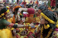 Spring festival in Bangladesh #festival #bangladesh #asia #travel #colorful