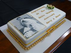 50 wedding anniversary cakes - Decorations for Wedding Anniversary Cakes – Wedding and Bridal Inspiration Galleries 50th Wedding Anniversary Decorations, 50th Wedding Anniversary Cakes, Golden Anniversary, Anniversary Parties, Anniversary Ideas, Parents Anniversary, Wedding Favors, Wedding Cakes, 50th Party