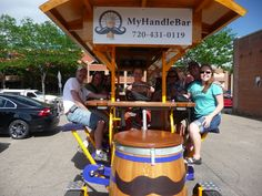 #Partybike rides are Mayor approved. @MyHandleBar (Colorado) #FortCollins #Boulder #Colorado