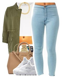 """""""10.26.15"""" by jadeessxo ❤ liked on Polyvore featuring River Island, Kenneth Cole, Melissa Odabash, Michael Kors and NIKE"""