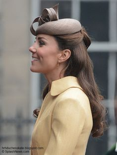 Duchess Kate: Year In Review: 2012 The Duke and Duchess travelled to Edinburgh to attend a service at St Giles Cathedral where William was installed as a 'Knight of the Thistle'. The ancient Order of the Thistle represents the highest honour of chivalry in Scotland and can only be bestowed by the Queen. Kate wore a bespoke soft gold Emilia Wickstead coat dress for the service.