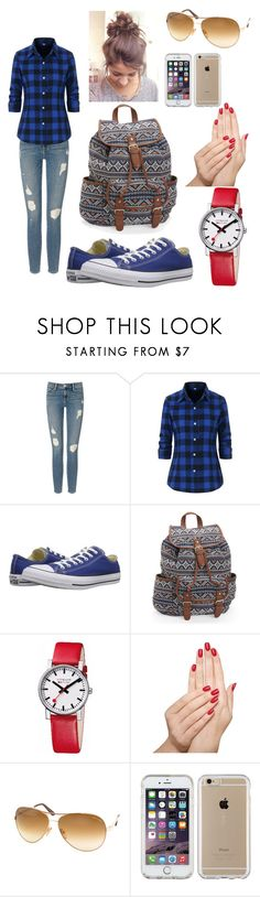 """""""School😐😄"""" by wildchild08 ❤ liked on Polyvore featuring Frame, Converse, Aéropostale, Mondaine, Piggy Paint, Tom Ford and Speck"""