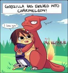 Godzilla by uberzers