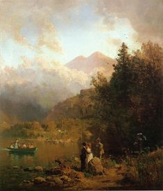 Thomas Hill - Fishing Party in the Mountains, 1872