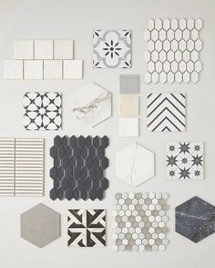 Major heart eyes for these new arrivals! Which one is your favorite?  Tiles featured: Riad White, Artisan Conte Gris, Shapes Elongated Hex Off White, Calabasis, Calacatta Majestic Hex, Riad Grey, Riad Sand, Trois Bandes, Track Stack White, Shapes Elongated Hex Charcoal Gray, Calacatta Gold, Asteri, Pulpis Grey Hex, Marble Star, Energy Hex White/Taupe, + Stream Black Hex. Calacatta Gold, The Tile Shop, Bathroom Tile Designs, White Tiles, Black And White Colour, Heart Eyes, Design Consultant, Tile Patterns