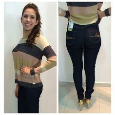 Tricot Deuso e Mega Confortável  ● Calça Jeans Emana   { A Morena Rosa lançou um jeans que melhora a circulação e combate a celulite, feito com um fio desenvolvido pela Rhodia no Brasil. } ▪》▪》Isso é Maravilhoso    《♡》  #weloveit #winter15 #inverno15 #imperdível #trend #lançamentocoleção #news #euqueroo #inlove #musthave #lookcarolcamilamodas #lookfashion #carolcamilamodas #presente #fashion