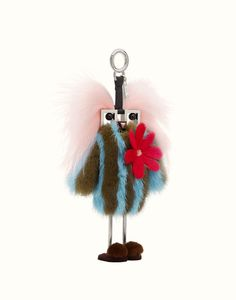 FENDI FENDI WITCHES CHARM - Charm in multicolored fur - view 1 small thumbnail
