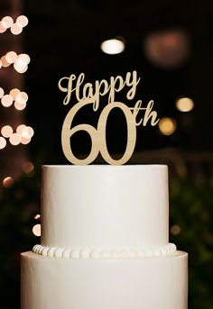 8 Happy Birthday Square Banner Plaques Toppers  White//Silver or Cream//Gold