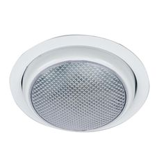 Perko Round Surface Mount LED Dome Light w-Trim Ring - White Powder Coat [1357DP0WHT]