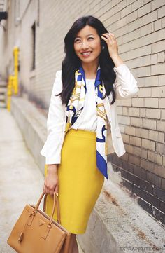 another way to wear a silk scarf
