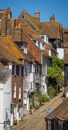 18th century houses line the steep cobbled Mermaid Street in Rye, East Sussex by Anguskirk on Flickr