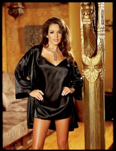 Black Babydoll and Robe Set for Womens Sexy Valentines Day Lingerie Gifts dc4b02b4f