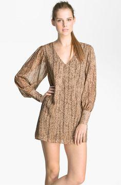 Rory Beca Print Blouson Sleeve Minidress available at #Nordstrom
