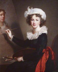 Self Portrait by Elisabeth Louise Vigée-LeBrun    Date painted: 1791
