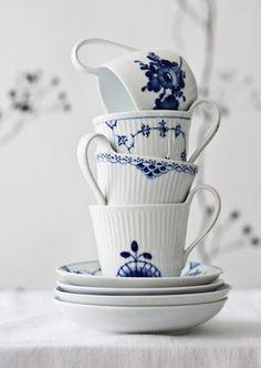 L'heure du thé - Tea time - Bleu et blanc - Blue and white - Royal Copenhagen