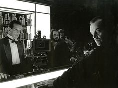 The Shining - The Best Behind-the-Scenes Photos from Iconic Movies The role of Lloyd the Bartender was originally going to be played by Harry Dean Stanton who had to turn down the role to fulfill his commitment to Alien. The part ultimately went to Joe Turkel. - Photos