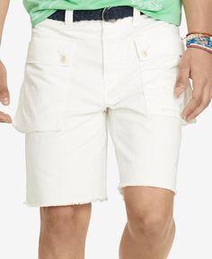 Polo Ralph Lauren Men's Relaxed-Fit Herringbone Naval Shorts