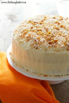 Carrot Cake with Cream Cheese Frosting is simple and delicious. This homemade carrot cake recipe that anyone can make and everyone will love! Blackberry Recipes, Apple Cake Recipes, Baking Recipes, Dessert Recipes, Cake With Cream Cheese, Cream Cheese Frosting, Homemade Carrot Cake, Carrot Cake Cheesecake, Buckwheat Cake