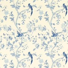 Summer Palace Royal Blue Wallpaper at Laura Ashley