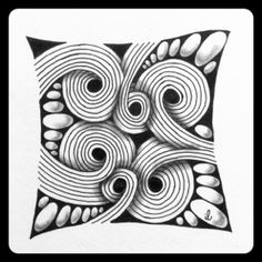 Sand Swirl is a pattern I love, but it's also quite a difficult one to me because of all these parallel curved lines. I like the result thou...