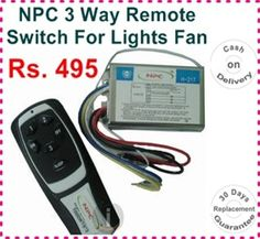 NPC 3 Way Remote Switch For Lights Fan Rs. 495