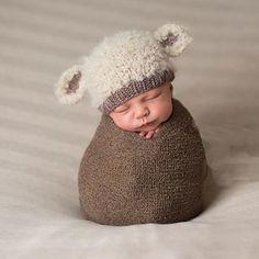 490ac83a22b Lamb baby hat hand knit curly hat newborn photo prop cream ecru beige brown  taupe boy girl unigender animal beanie with ears neutral natural