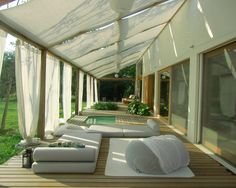 Decoration Ideas: Picturesque Canvas Roof For Your Canopy. Cement ...