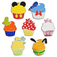 Disney Character Cupcake Pin Set - I see these as cookies! MyBet