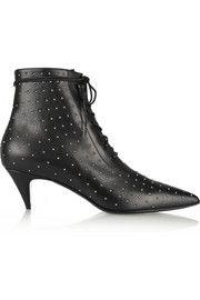 Saint LaurentStudded leather ankle boots