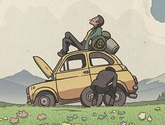 Bill Mudron creates a series of posters based on popular Studio Ghibli films, including one inspired by one of the best Lupin III stories every made. Hayao Miyazaki, Cartoon Fan, Cartoon Characters, Totoro, Manga Mania, Ghibli Tattoo, Lupin The Third, Hokusai, Studio Ghibli Art