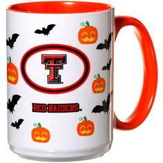 Texas Tech Red Raiders 15oz. Inner Color Orange Halloween Mug