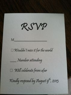 rsvp response card wording wedding pinterest business branding