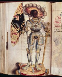 Black warrior and Roman soldier martyred for Christianity in the 3rd century, St. Maurice (coutesy: Image of the Black in Western Art Archive at Harvard University's W.E.B. Du Bois Institute for African and African American Research).