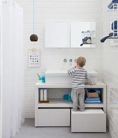 bequeme Lösung für kleine Kinder im Bad