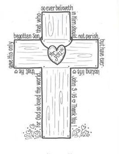 A great coloring activity around the Easter Season.or ANY time! by Bunky Business Sunday School Activities, Church Activities, Bible Activities, Sunday School Lessons, Sunday School Crafts, Group Activities, Bibel Journal, Bible Story Crafts, Bible Coloring Pages