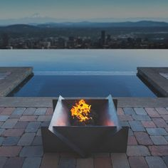 Astounding Tips: Fire Pit Lighting Decor easy fire pit with bricks.Fire Pit Cover Built Ins garden fire pit seating. Easy Fire Pit, Large Fire Pit, Metal Fire Pit, Concrete Fire Pits, Rectangular Fire Pit, Square Fire Pit, Gazebo, Fire Pit With Rocks, Fire Pit Decor