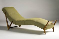 Giuseppe Scapinelli's (a furniture maker and retailer of Italian origin) olive green chaise longue Concrete Furniture, Home Furniture, Furniture Design, Furniture Upholstery, Cheap Furniture, Bauhaus, Homemade Furniture, Mid Century Chair, Affordable Furniture