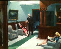 """Edward Hopper """"Hotel Lobby"""" 1943 (Indianapolis MOA)"""