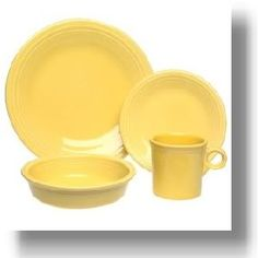 I may be biased, but you can't go wrong with yellow Fiestaware.
