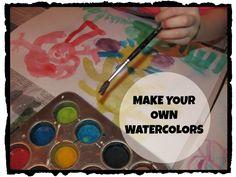 The Chocolate Muffin Tree: DIY Watercolors