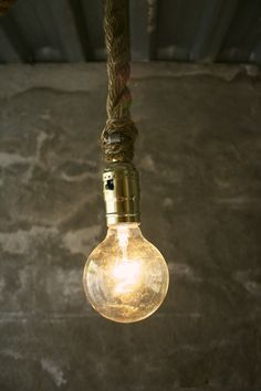 Chandelier Lighting Hanging Light Rustic Decor Shabby Chic Industrial Light - Rustic Rope Design