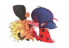 Miraculous Ladybug Fan Art: Ladybug and Chat Noir Ladybug E Catnoir, Ladybug Und Cat Noir, Ladybug Comics, Lady Bug, Anime Miraculous Ladybug, Miraculous Kiss, Adrien Miraculous, Bb Chat, Mlb