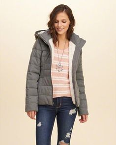Sherpa Lined Puffer Jacket