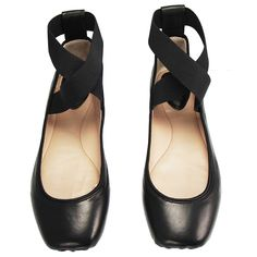 CHLOÉ DANCER BALLERINA FLAT IN BLACK Black leather ballet flat features an elastic crossover ankle strap, pointe-inspired square toe, satin trim, and black stacked heel. Chloe Ballet Flats, Chloe Shoes, Ballerina Flats, Black Ballerina, Passion For Fashion, Me Too Shoes, Ankle Strap, Fashion Shoes, Shoe Boots